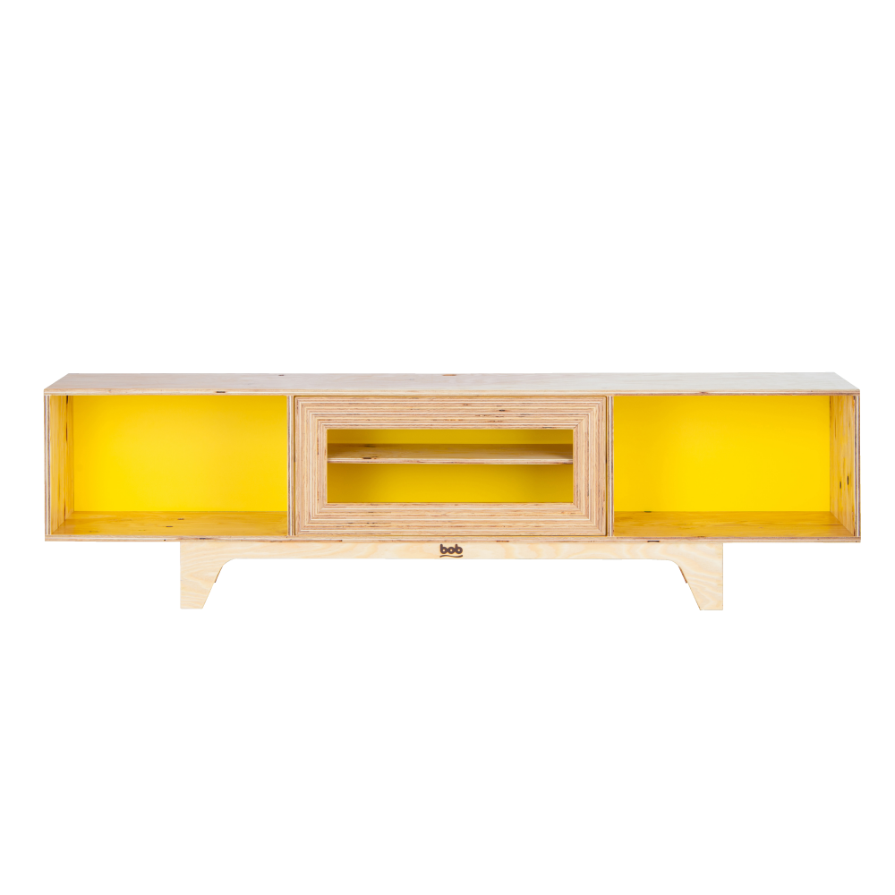 TV Shelf + Yellow